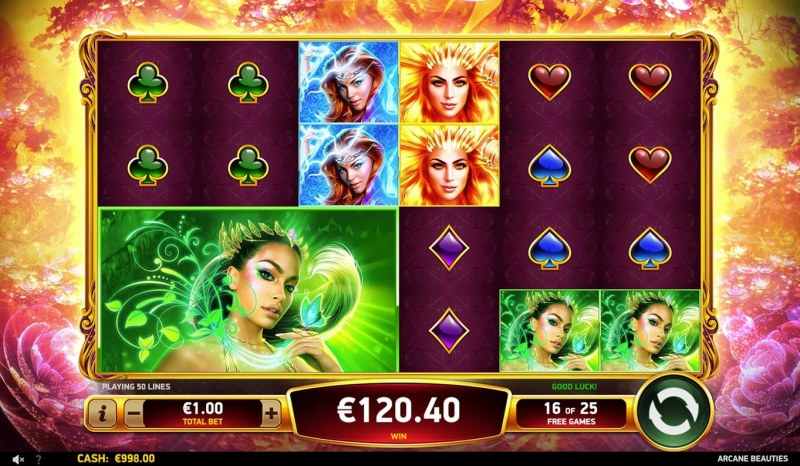 Arcane Beauties :: Free Spins Game Board
