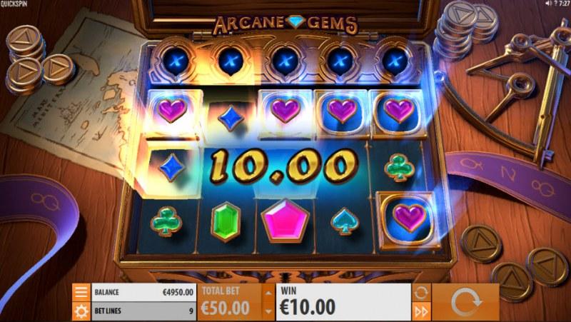 Arcane Gems :: Three of a kind win