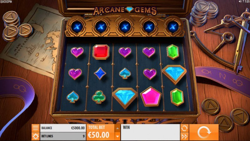 Play slots at Yako Casino: Yako Casino featuring the Video Slots Arcane Gems with a maximum payout of $281,250