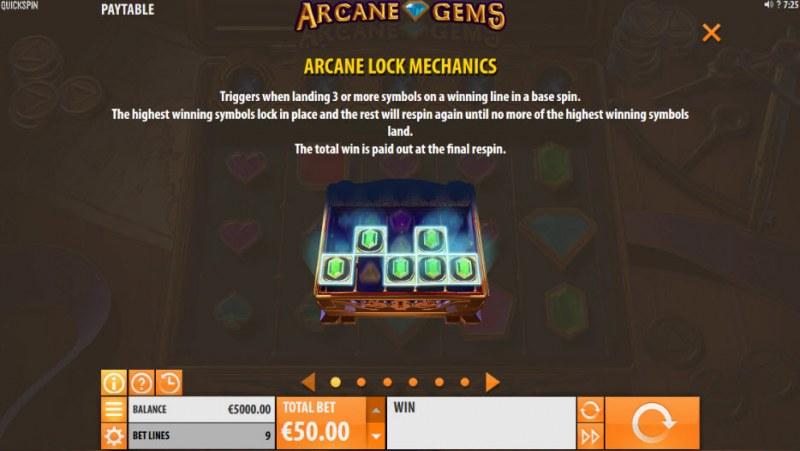 Arcane Gems :: Arcane Lock Mechanics