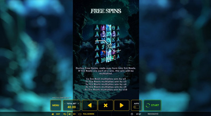 Arctic Empress :: Free Spin Feature Rules