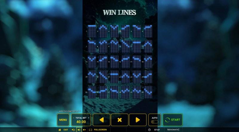 Arctic Empress :: Win Lines
