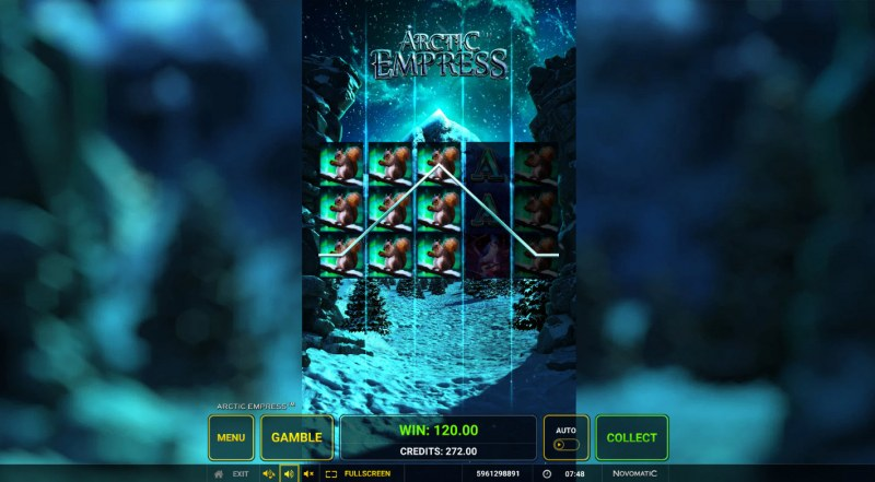 Arctic Empress :: Stacked symbols leads to multiple winning paylines