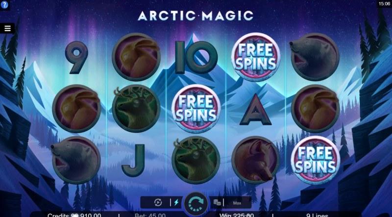 Arctic Magic :: Scatter symbols triggers the free spins bonus feature