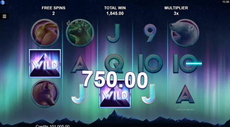 Arctic Magic :: A four of a kind win