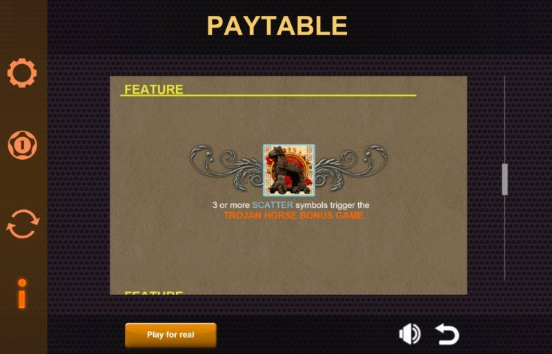 Play slots at Fair Go: Fair Go featuring the Video Slots Ares The Battle for Troy with a maximum payout of $6,250