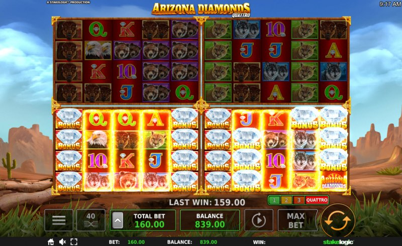 Arizona Diamonds Quattro :: Lock and Spin feature triggered