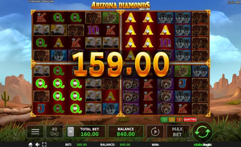 Arizona Diamonds Quattro :: Multiple winning paylines