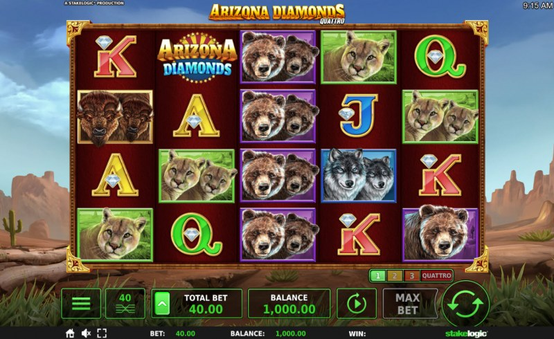 Arizona Diamonds Quattro :: Main Game Board