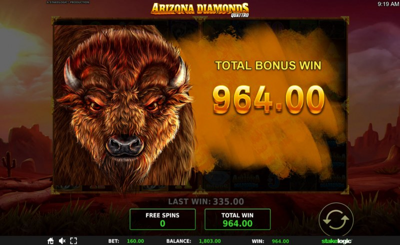Arizona Diamonds Quattro :: Total free spins payout