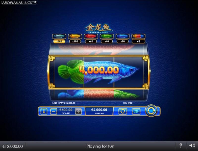 Arowanas Luck :: Mixed Fish winning combination
