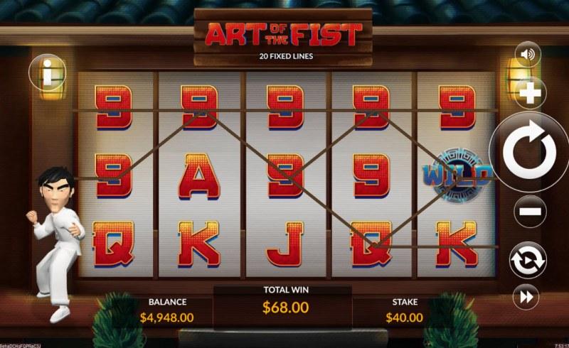 Art of the Fist :: Multiple winning paylines
