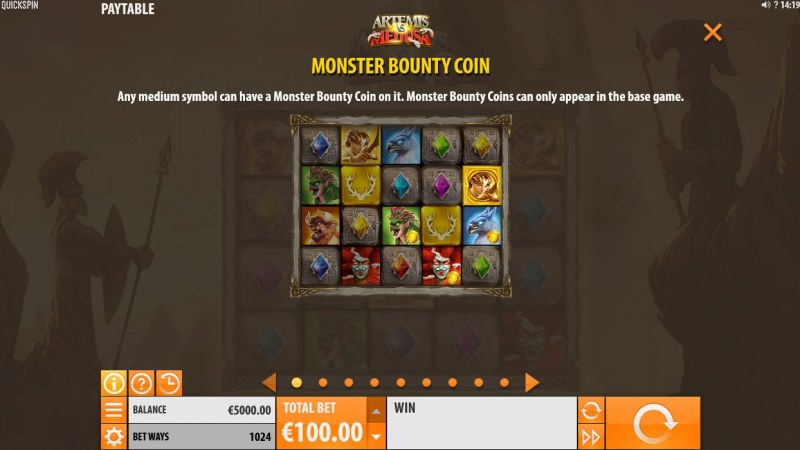 Artemis & Medusa :: Monster Bounty Coin