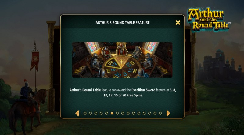 Arthur and the Round Table :: Free Spin Feature Rules