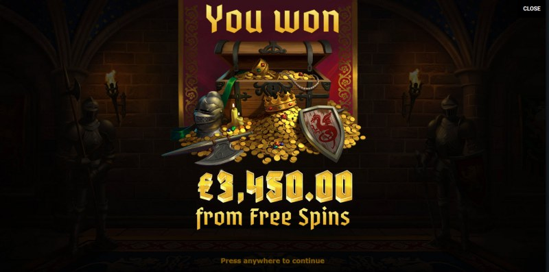 Arthur's Fortune :: Total free spins payout