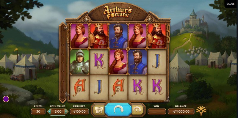 Play slots at Genesis Casino: Genesis Casino featuring the Video Slots Arthur's Fortune with a maximum payout of $1,085,650