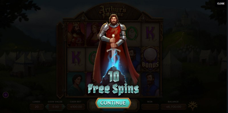 Arthur's Fortune :: 10 Free Spins Awarded