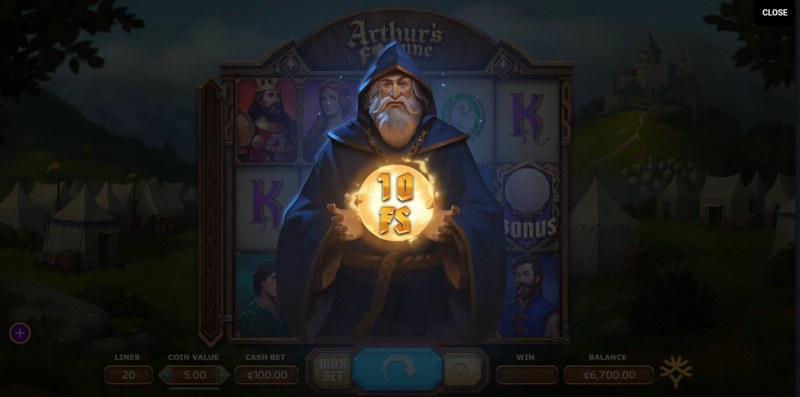 Arthur's Fortune :: A random prize is awarded