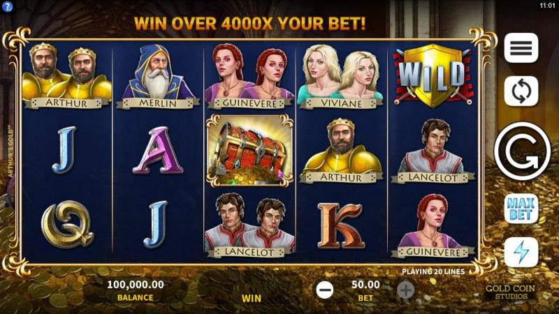 Arthur's Gold :: Main Game Board