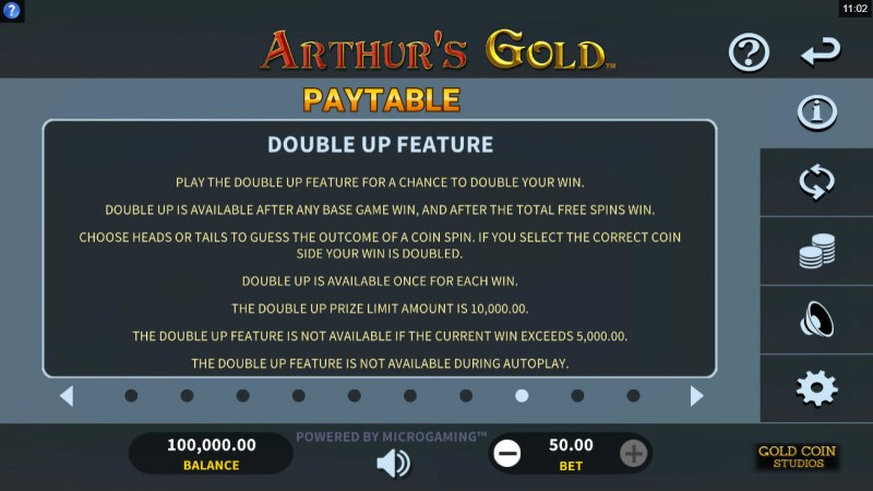 Arthur's Gold :: Double Up