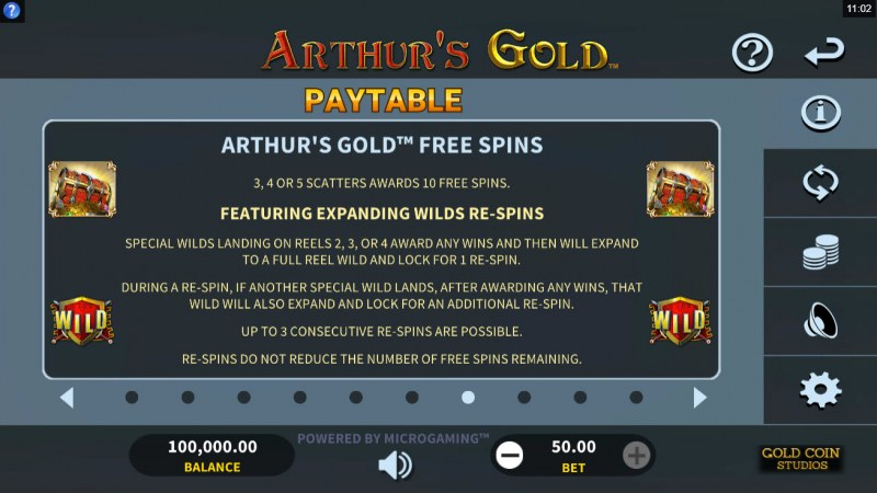 Arthur's Gold :: Free Spin Feature Rules