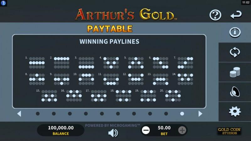 Arthur's Gold :: Paylines 1-20