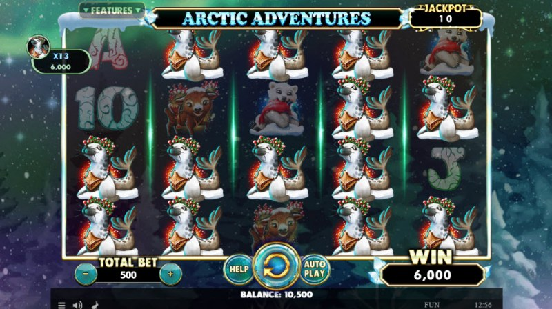 Artic Adventures :: Multiple winning combinations leads to a big win