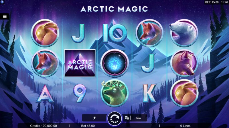 Play slots at Cinema: Cinema featuring the Video Slots Artic Magic with a maximum payout of $50,000
