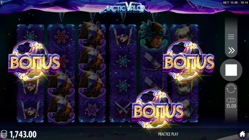 Artic Valor :: Scatter symbols triggers the free spins feature