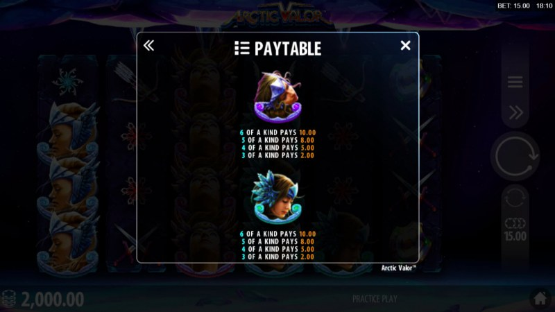 Artic Valor :: Paytable - High Value Symbols