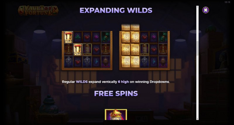 Artifacts Vault of Fortune :: Expanding Wilds