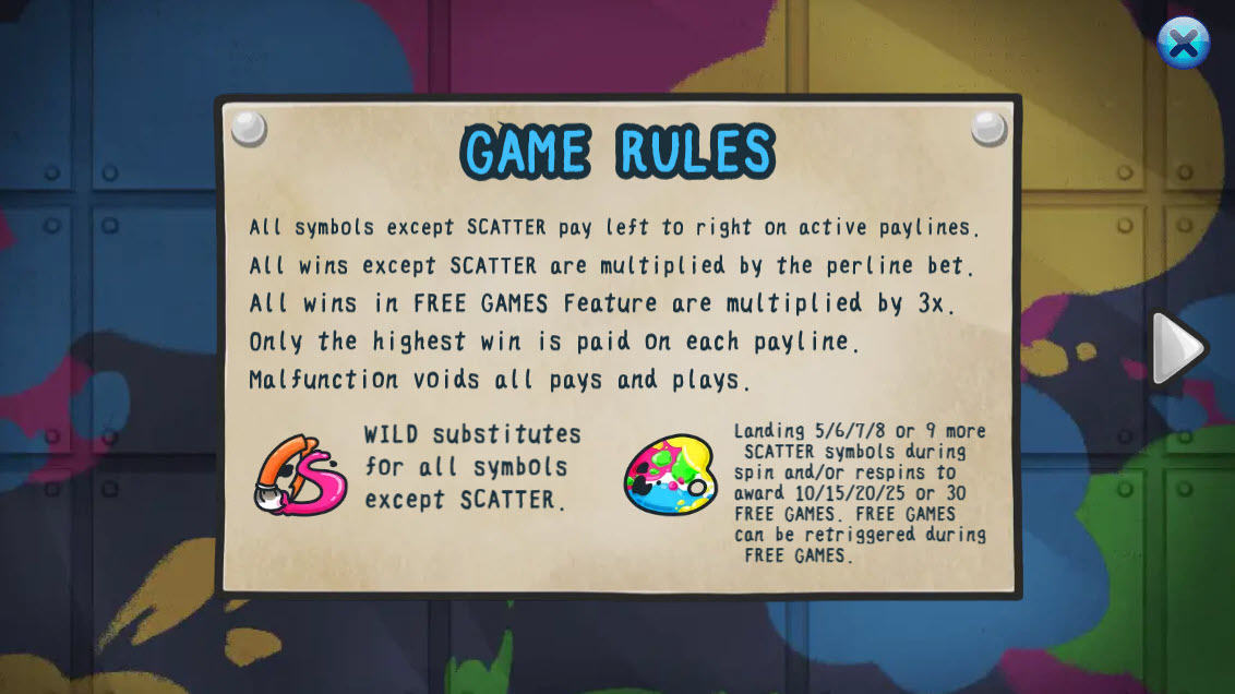Artist Studio :: Wild and Scatter Rules