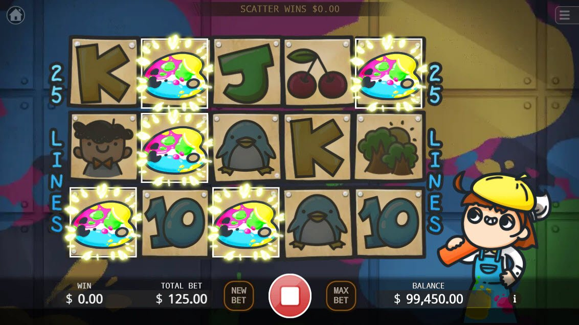 Artist Studio :: Scatter symbols triggers the free spins feature