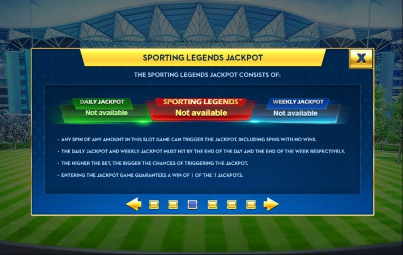 Ascot Sporting Legends :: Jackpot Rules