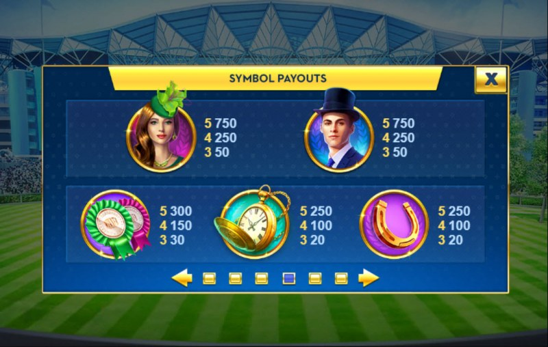 Ascot Sporting Legends :: Paytable - High Value Symbols