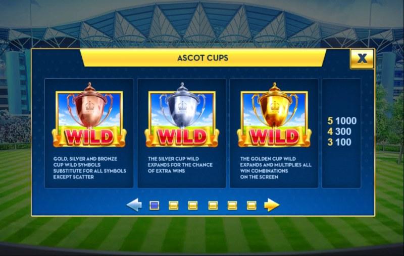 Ascot Sporting Legends :: Wild Symbol Rules