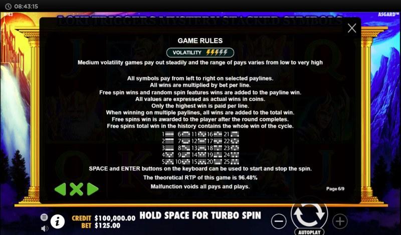 Asgard :: General Game Rules