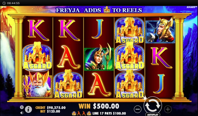 Asgard :: Multiple winning paylines
