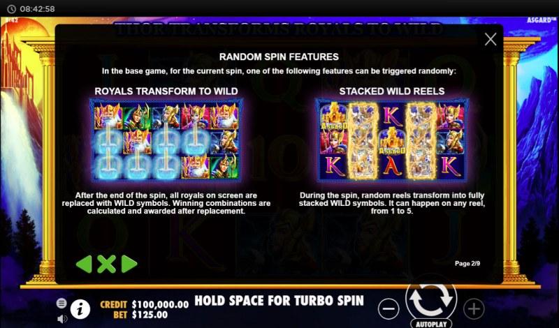 Asgard :: Random Spin Features