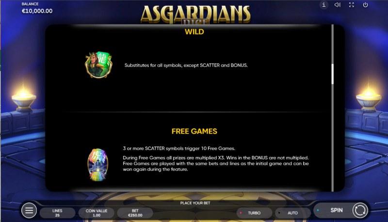 Asgardians Dice :: Wild Symbol Rules