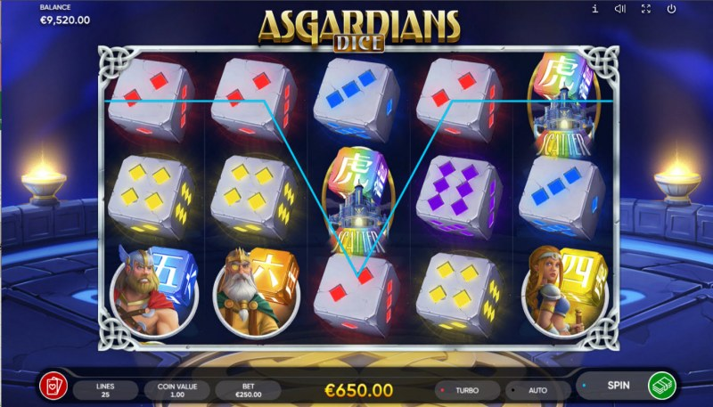 Asgardians Dice :: A five of a kind win