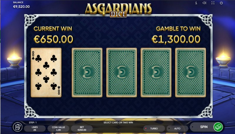 Asgardians Dice :: Red or Black Gamble Feature
