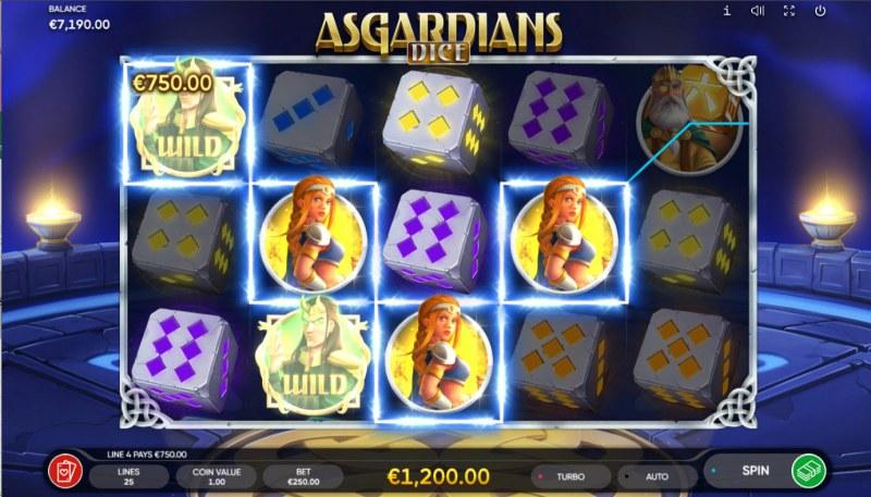 Asgardians Dice :: Multiple winning paylines