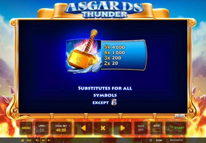 Asgards Thunder :: Wild Symbols Rules