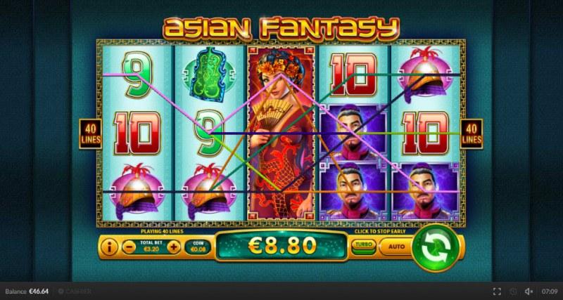 Asian Fantasy :: Multiple winning paylines