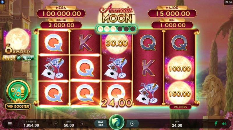 Assassin Moon :: Multiple winning combinations
