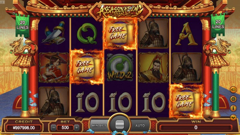 Assassinating Signal :: Scatter symbols triggers the free spins feature