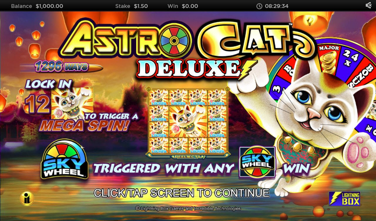 Play slots at Euro Slots: Euro Slots featuring the Video Slots Astro Cat Deluxe with a maximum payout of $250,000