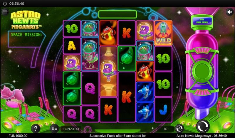Astro Newts Megaways :: Main Game Board