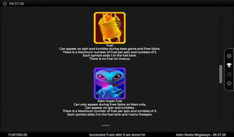Astro Newts Megaways :: Scatter Symbol Rules